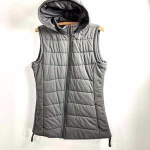 CALIA Carrie Underwood Puffer Vest M Gray Hood